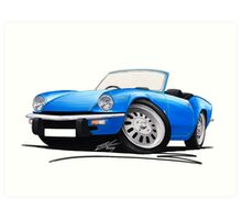 Triumph Spitfire (Mk4) Blue Art Print