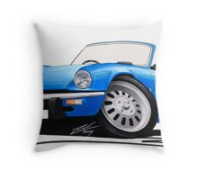 Triumph Spitfire (Mk4) Blue Throw Pillow