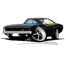 Dodge Charger Black Photographic Print