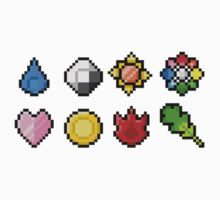 Pokemon Badge Sprites (Kanto Only) by Funkymunkey