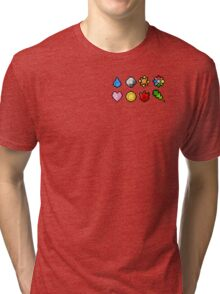 Pokemon Badge Sprites (Kanto Only) Tri-blend T-Shirt
