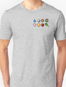 Pokemon Badge Sprites (Kanto Only) Unisex T-Shirt