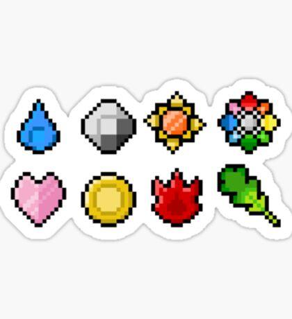 Pokemon Badge Sprites (Kanto Only) Sticker