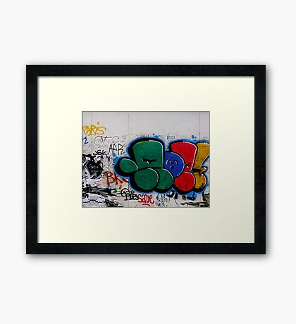 City graffiti Framed Print
