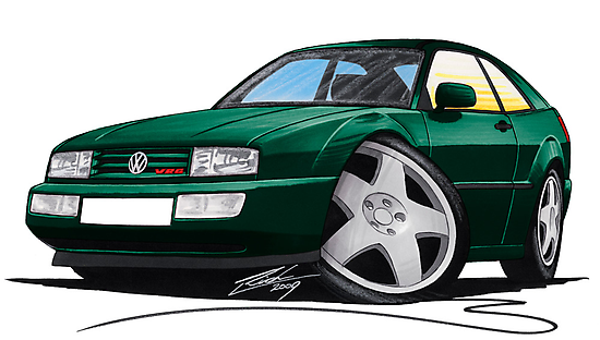 VW Corrado Green by Richard Yeomans