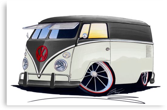 VW Splitty Panel Van (RB) by Richard Yeomans