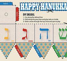 DIY Dreidel Happy Hanukkah Card by my-sanity