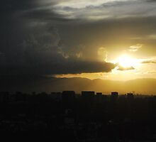Guatemala city at sunset by Marie Anne Hale