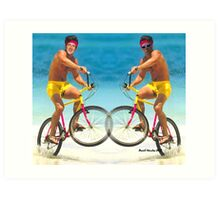 Wiggins and Froome - Team GB Art Print