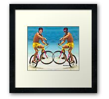 Wiggins and Froome - Team GB Framed Print