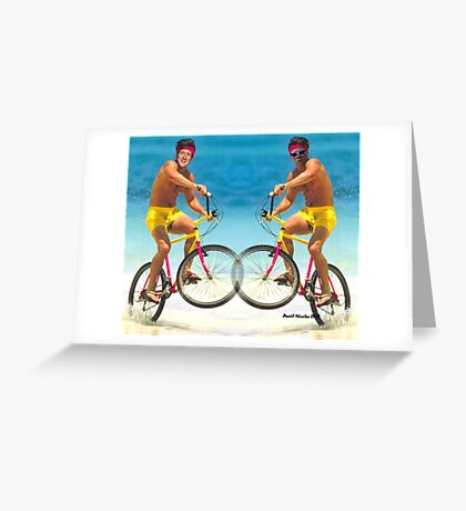 Wiggins and Froome - Team GB Greeting Card