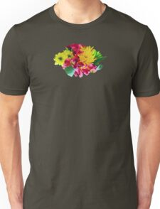 Yellow Mums and Pink Asiatic Lilies Unisex T-Shirt