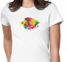 Yellow Mums and Pink Asiatic Lilies Womens Fitted T-Shirt