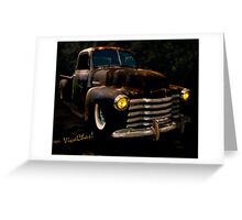 Chevy Hot Rat Rod Pickup Cowgirl's Last Stand  Greeting Card