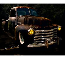 Chevy Hot Rat Rod Pickup Cowgirl's Last Stand  Photographic Print