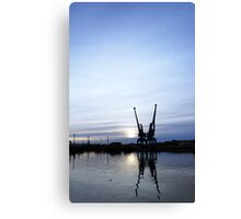 Ipswich Docks in the Winter Canvas Print