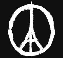 Paris Peace Symbol - Black by betsycrump