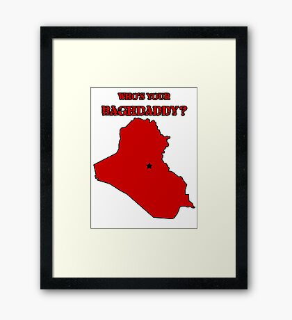 Who's Your Bagdaddy? (Red) Framed Print