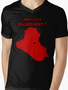 Who's Your Bagdaddy? (Red) Mens V-Neck T-Shirt