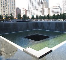 North Tower Memorial Pool, Manhattan, NYC by TedT