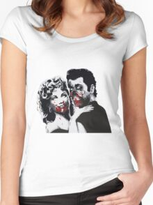 Grease Zombies  Women's Fitted Scoop T-Shirt
