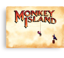 Monkey Island - Treasure found! Canvas Print