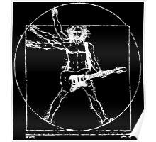 Leonardo Da Electric Guitar Poster