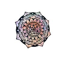 Tie Dye Mandala Photographic Print