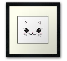 Kawaii kitty Framed Print