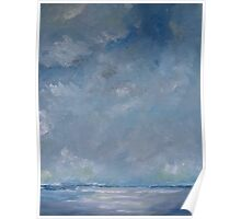 Sky and Sea - oil painting Poster