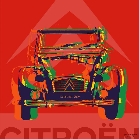 Custom pop art - Citroen 2CV by minjean