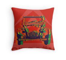 Custom pop art - Citroen 2CV Throw Pillow