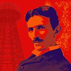 Nikola Tesla by popartworks by minjean