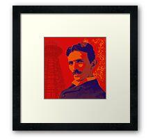 Nikola Tesla by popartworks Framed Print