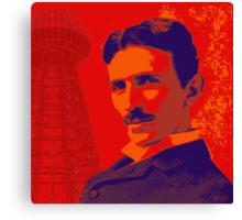 Nikola Tesla by popartworks Canvas Print