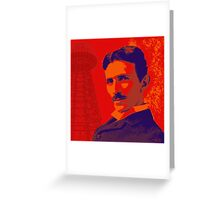 Nikola Tesla by popartworks Greeting Card