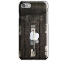 Abandoned - swan on river reflection iPhone Case/Skin