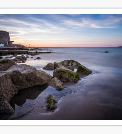 Sunset at Seapoint, Dún Laoghaire, Ireland Sticker