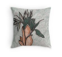 76 - PLANT DESIGN - DAVE EDWARDS - COLOURED PENCILS - 1998 Throw Pillow