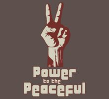 Power to the Peaceful Baby Tee