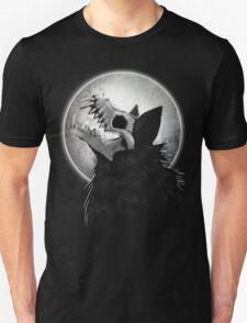 Skull Wolf Howl Unisex T-Shirt