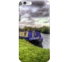 Narrowboat moored on the River iPhone Case/Skin