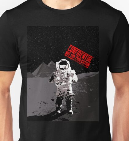 Pyramids on the Moon Unisex T-Shirt