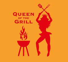 Queen Of The Grill (Barbecue) Womens Fitted T-Shirt