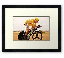 Bradley Wiggins, Tour de France Champion 2012 Framed Print