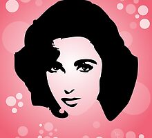 Elizabeth Taylor - Glamour - Pop Art by wcsmack