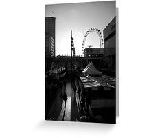 London Marketplace at Sunset Greeting Card