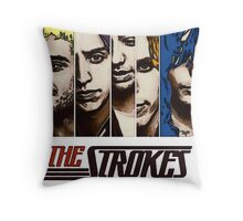 The Strokes Throw Pillow