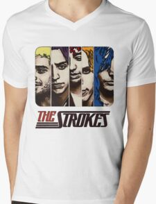 The Strokes Mens V-Neck T-Shirt