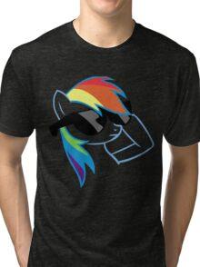 Rainbow Dash Don't Care Tri-blend T-Shirt